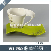 New design hot sell porcelain tea cup and saucer wholesale