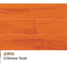Suelo de madera laminada y laminada de teca china de calidad superior