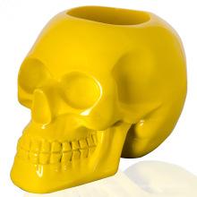 Décoration d'artisanat de conteneur de pot de plante de crâne humain