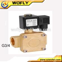 Latão 10bar 1/4 G fio 24v dc válvula atuador elétrico