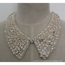Fashion Charm Pearl Sequin Chunky Costume Choker Necklace Collar (JE0061)