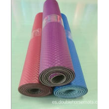 NBR estera de yoga en relieve de doble color