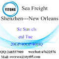 Shenzhen Port Sea Freight Shipping ke New Orleans