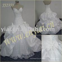 latest elegant drop shippiong freight free ball gown style taffeta strapless wedding dress JJ2353