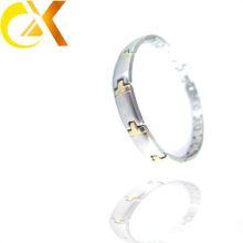 Sólido ouro 14k banhado pulseiras ouro mens pulseiras
