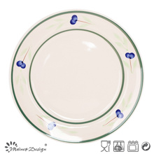 "10.5"" Handpainted Ceramic Dinner Plate Wholesale"