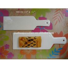 Cozinha ferramenta panela de bolo de cerâmica e pizza pan com alça