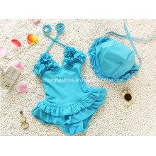 Blaue Mädchen des kleinen Mädchens