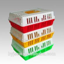 Cages de poulets vivants de boîte en plastique de chiffre d'affaires au transport