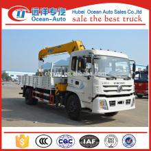 Camión telescópico del auge de 8 toneladas XCMG de Dongfeng con la grúa para la venta