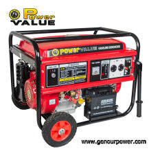 6000W Open Type Genset Copper Wire 220V Gasoline Generator 15HP with Handles and Wheels
