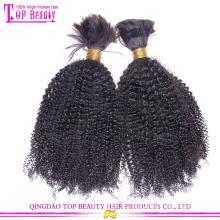 Fatcory en gros européenne cheveux 100% non transformés cheveux humains en vrac cheveux en vrac