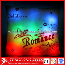 China factory Romance LED pillow colorful shining led light pillow
