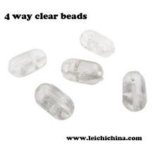Perles transparentes chinoises à 4 voies Hotsale