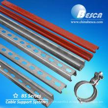 Sistemas de estruturas metálicas de canal de apoio