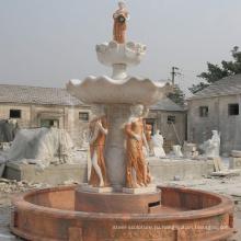 горячая продажа мраморный фонтан воды для украшения сада