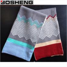 Invierno cálido brillante color suave bufanda de punto de infinito