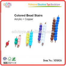 montessori material toys Colored Bead Stairs