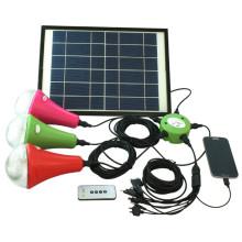 2014 mejor vendedor solar iluminación led sistema solar iluminación casera