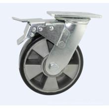 H17 Тяжелый тип двойного шарикового подшипника PU на алюминиевом сердечнике колеса