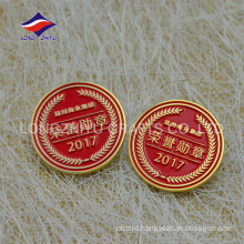 2017 newest round enamel business honor pin badge