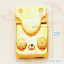 Movable / Flexible Golden Lock for Bag or Box (R10-181AS)