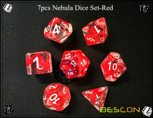 7pcs Nebula Dice Set-Red-6