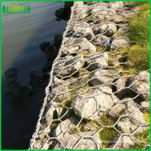 High quality pvc coated hexagonal woven gabion