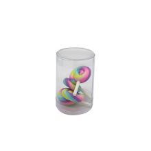 Expositor de cilindro de PVC transparente de plástico personalizado