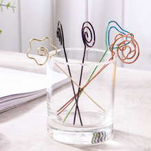 Many Shaped Metal Fruit Fork With Card Holder