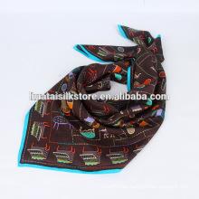 La mano 100% de seda impresa los proveedores al por mayor malayos de la bufanda