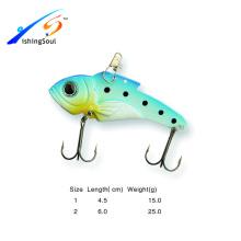VBL013 Vários Tamanho artificial pesca baixo vib colher metal pesca isca