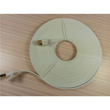 Cable Ethernet Falt Cat7 30m Color Blanco