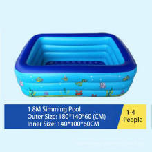 Children Inflatable Swimming Pool with Bubble Bottom