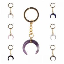Fashion Ox Horn Crystal Pendant Keychain Key chain rings