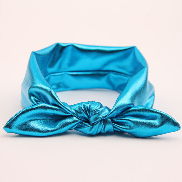 Head Band With Bow blue