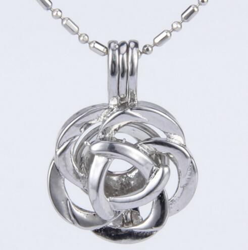 Rose Flower Cage Pendant