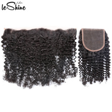 Fornecedor de cabelo brasileiro não processado 13 * 4 onda de água rendas frontal orelha a orelha no exterior