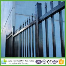 2,1 * 2,8 m em pó revestido de aço ornamentais ferro de aço tubular vedação para jardim