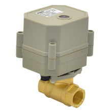 "110-240vtonhe 3/8"" Electric Mini Brass Ball Valve for Small-Scale Sewage (T10-B2-C)"