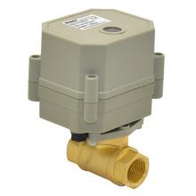 "110-240vtonhe 3/8 ""elétrica mini válvula de esfera de bronze para o esgoto de pequena escala (T10-B2-C)"