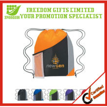Custom Promotional Polyester Mesh Drawstring Backpack