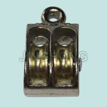 Nickel Plated Fixed Eye U.S Type Pulley With Double Wheels