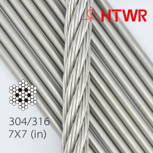 316 6x19FC 10mm Stainless Steel Aircraft Cables