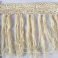 Direktverkauf 7cm Breite Schwarze Baumwolle Quaste Fransen