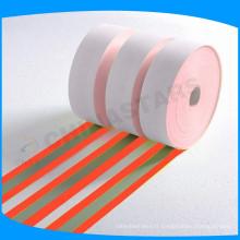 Orange-argent - tissu de draperies ignifuges couleur incroyable pour un vêtement de sécurité à haute visibilité