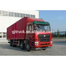 Sinotruk Hohan marca 8X4 drive camioneta para 20-48 metros cúbicos