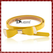 Beautiful bowknot leather belt for sewing machine,pu split leather belt