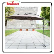 9 'de acero 8ribs patio colgando paraguas voladizo, jardín al aire libre paraguas de jardín, paraguas voladizo con manivela