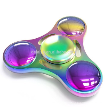 New Rainbow Style Streamlined And Elegant Shape Hand spinner Fidget Toy For Children and Adults